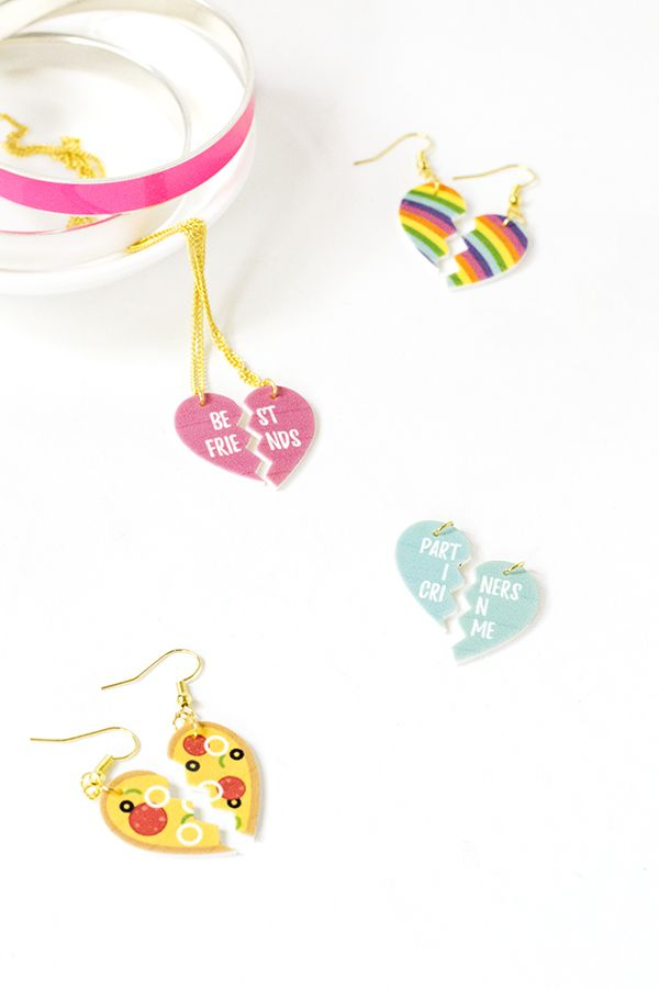 Diy best friend shrink plastic pendants for galentines day free best friends friendship shrink plastic pendants with free printable mozeypictures Choice Image
