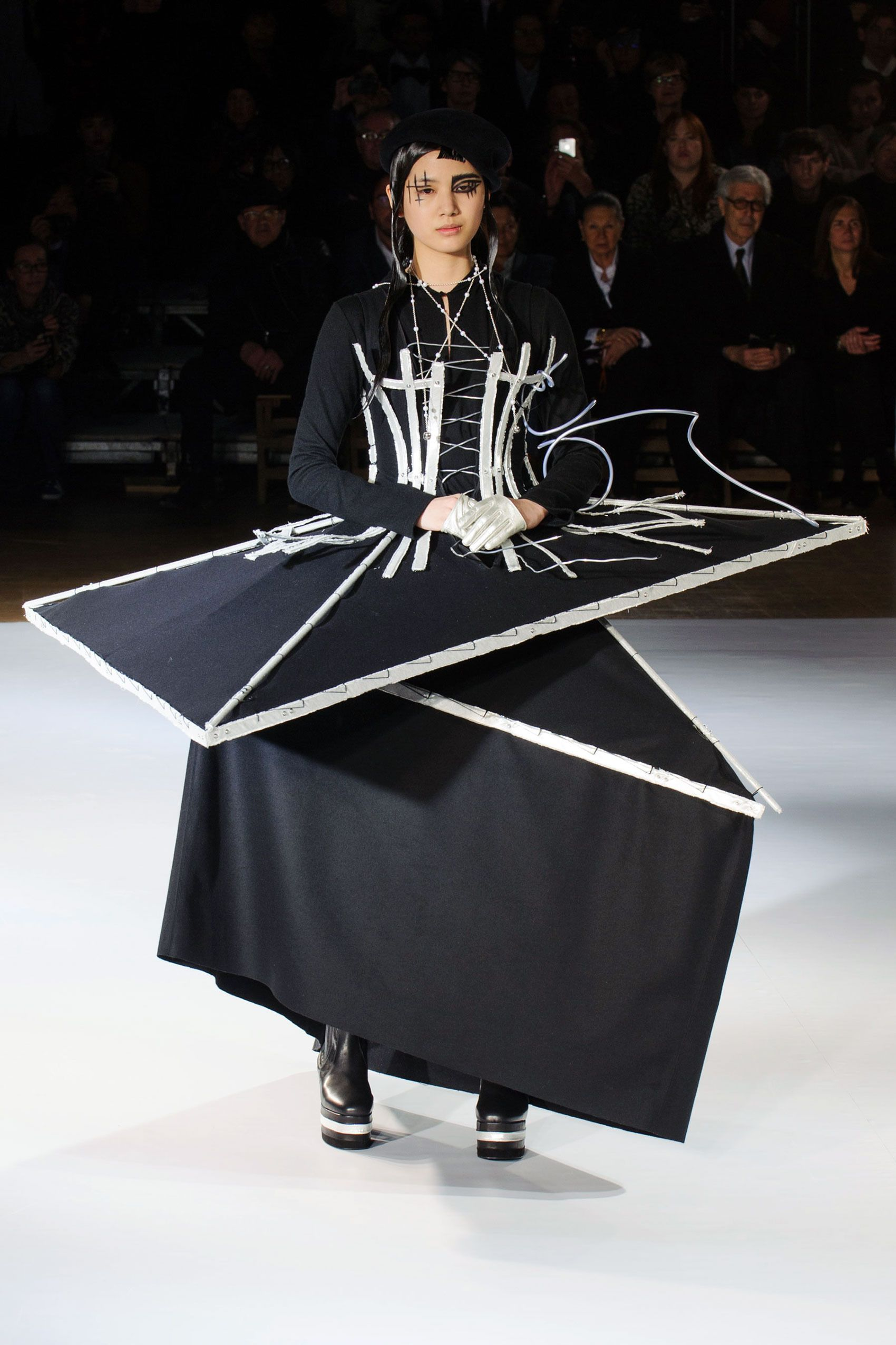 27559bf7275 Conceptual Fashion - dress inspired by buildings under construction   sculptural fashion    Yohji Yamamoto Fall 2015