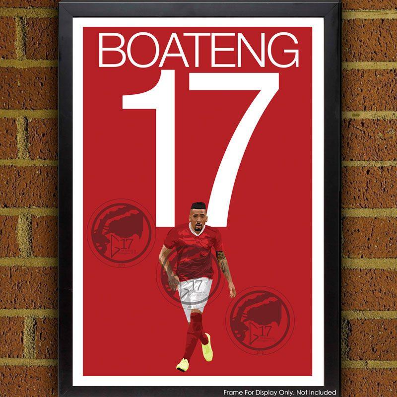 Jerome boateng football soccer poster 8x10 13x19 print