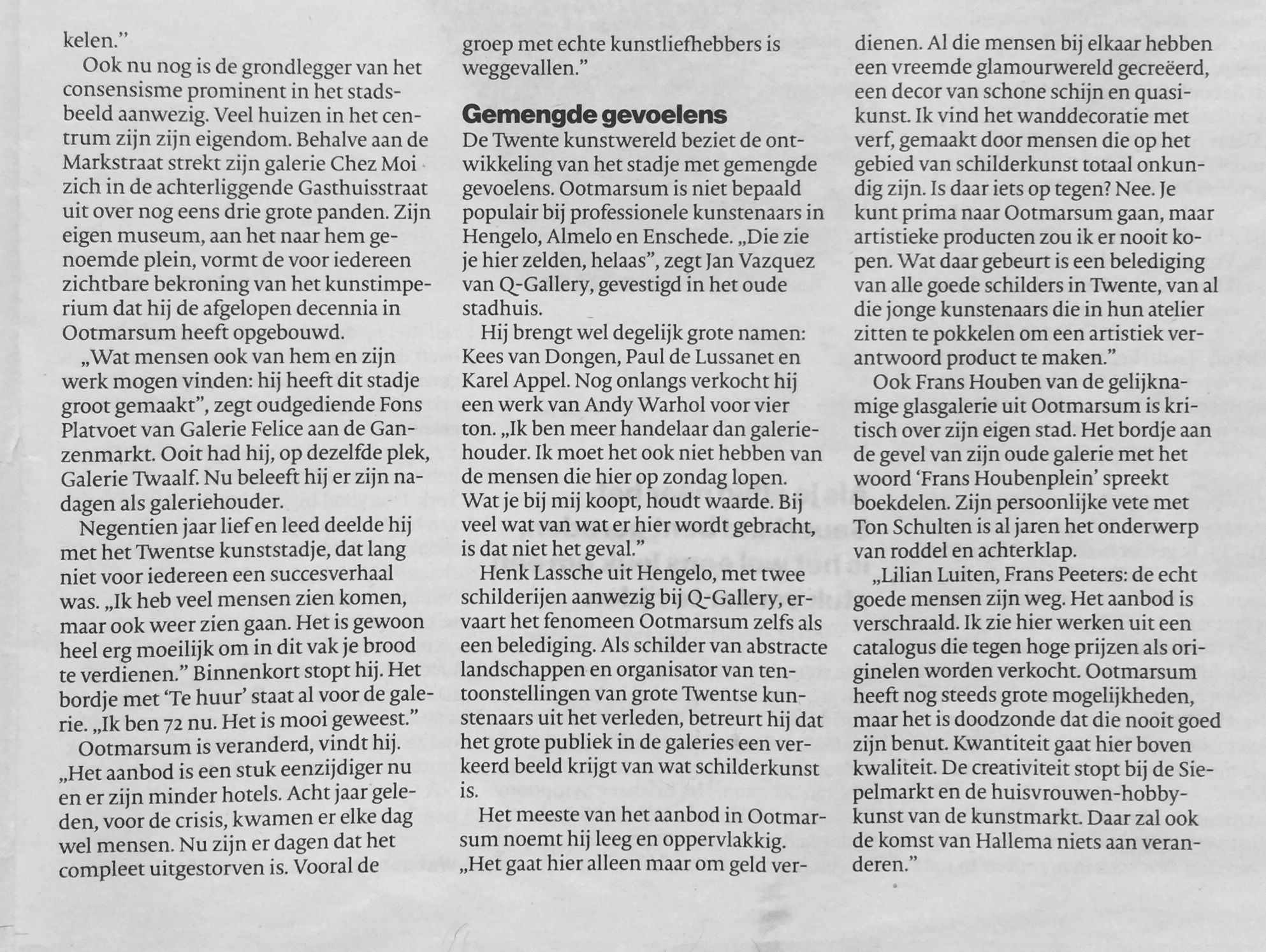 #OOTMARSUM #RuurdHallema 'Het #kunstdorp van #Twente'. #tubantia