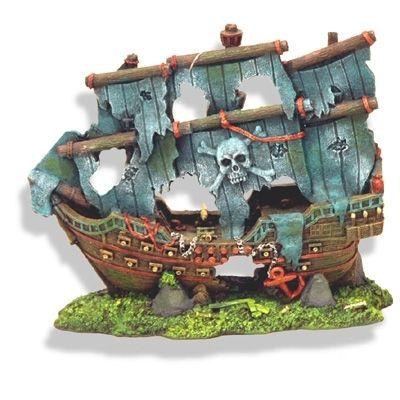 Sunken pirate ghost ship 1521 aquarium ornament fish for Aquarium decoration ship