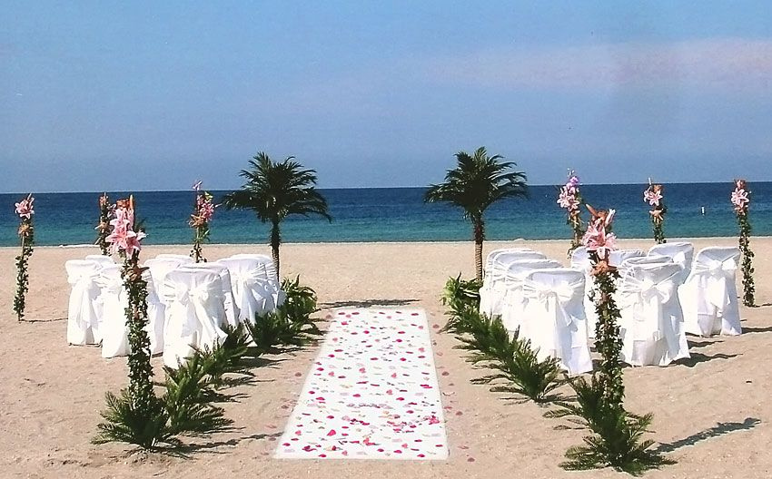 Florida Beach Wedding Packages Ceremony Decorations And