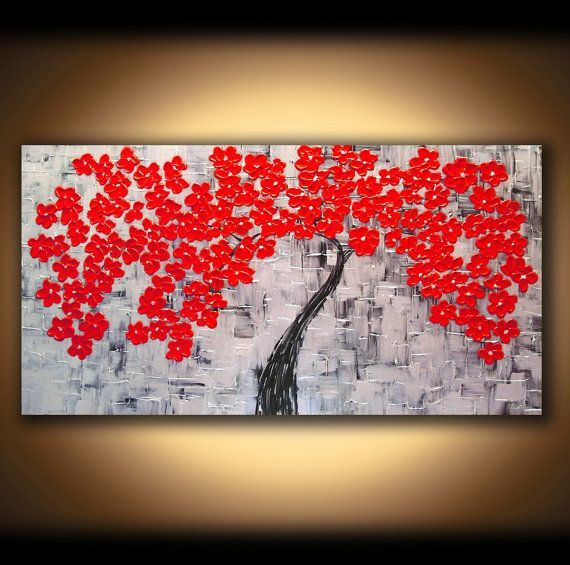 Large Red Wall Art