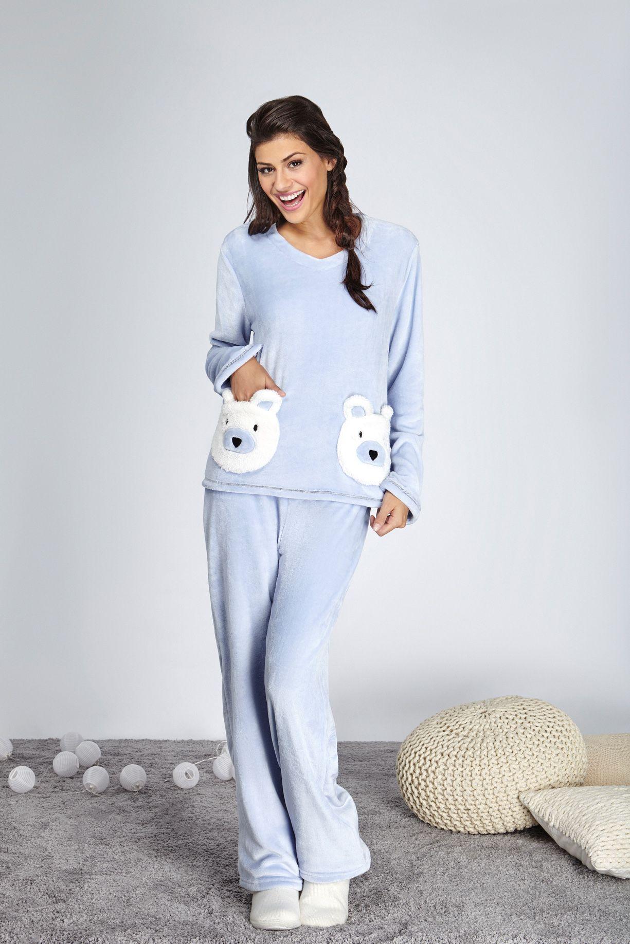 Pijamas fofos que estamos amando, A cor é relaxante, para noites perfeitas e tecido super macio para sonhar muito!