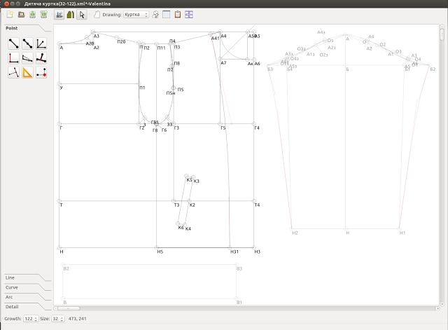 Блог проекта Valentina: Первый образец. Opensource CAD for textile ...