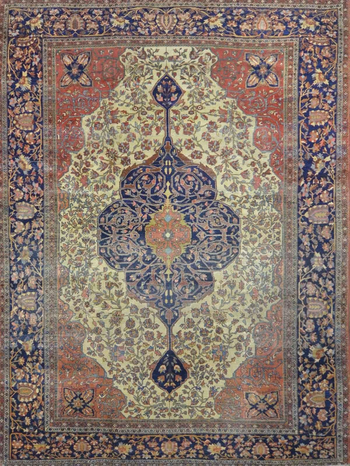 Antique persian saroukh farahan rug ue design ue u x u in