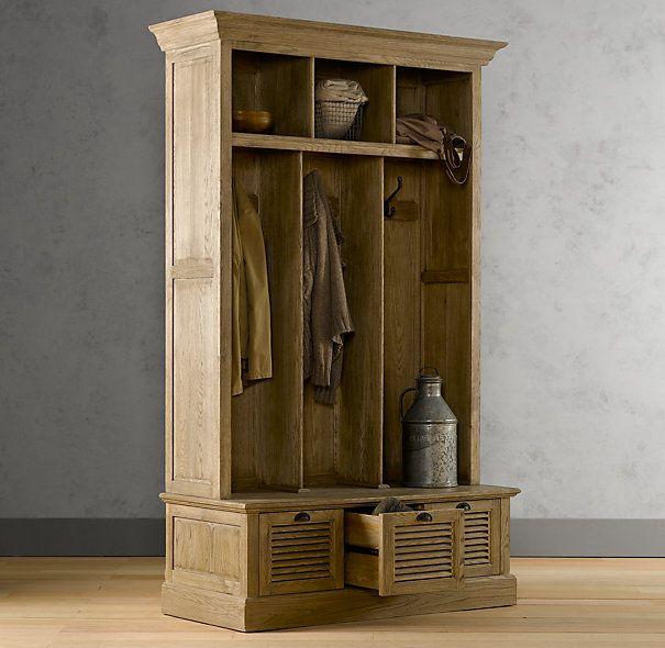 Entry locker, weathered oak. | Home | Pinterest