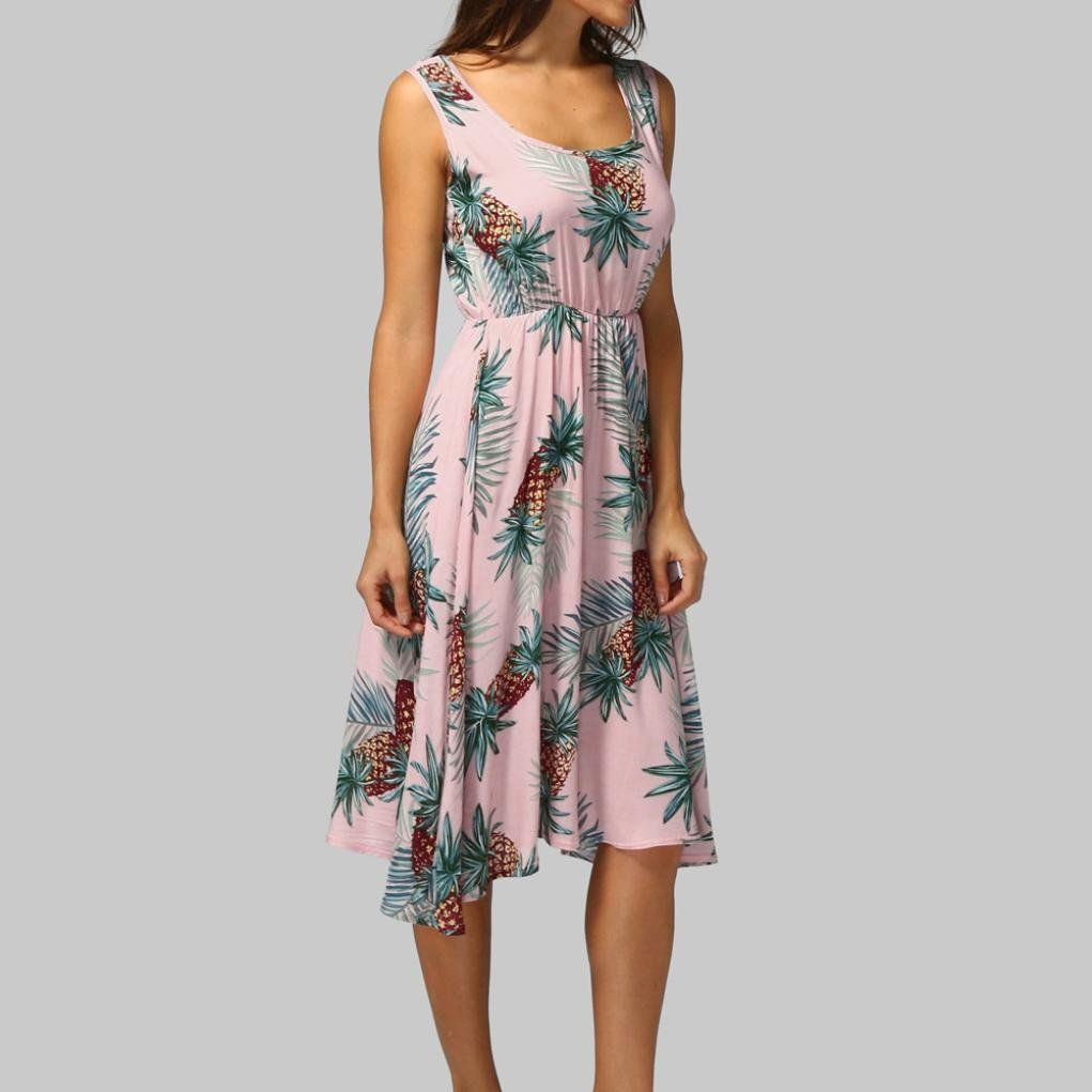 Womens Pregnancy Floral Print Tank Dress Sleeveless Sundress Maternity Clothing Clearance Typewriters Office Products