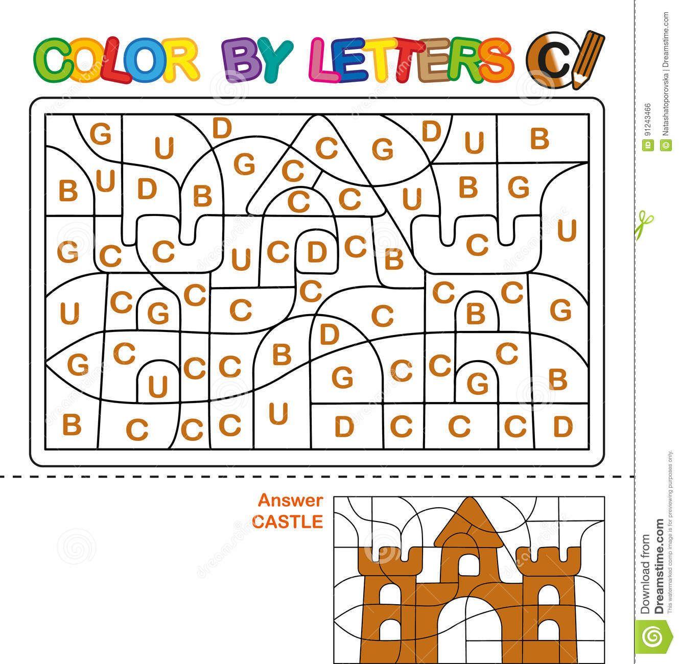 Farbe Durch Buchstaben Lernen Der Gro Buchstaben Des