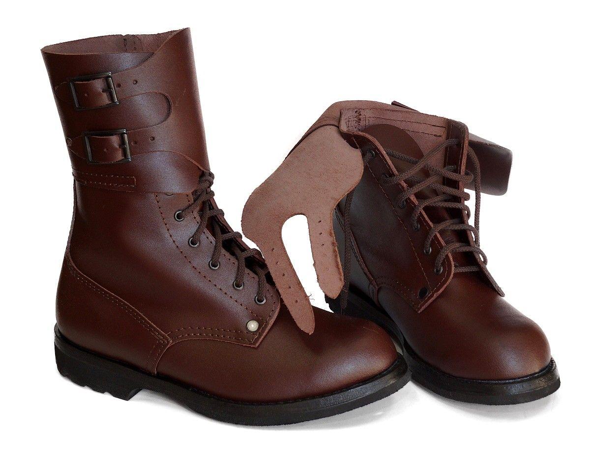 Brazowe Skorzane Buty Wojskowe Opinacze 29 Skora 4954710980 Oficjalne Archiwum Allegro Boots Combat Boots Army Combat Boots