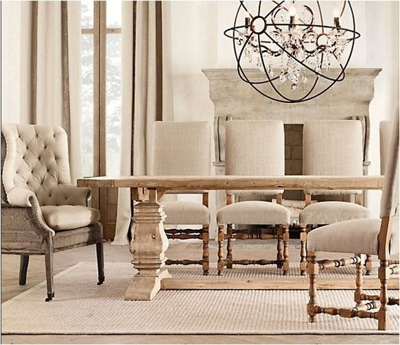 Tables Restoration Hardware Trestle Dining Room