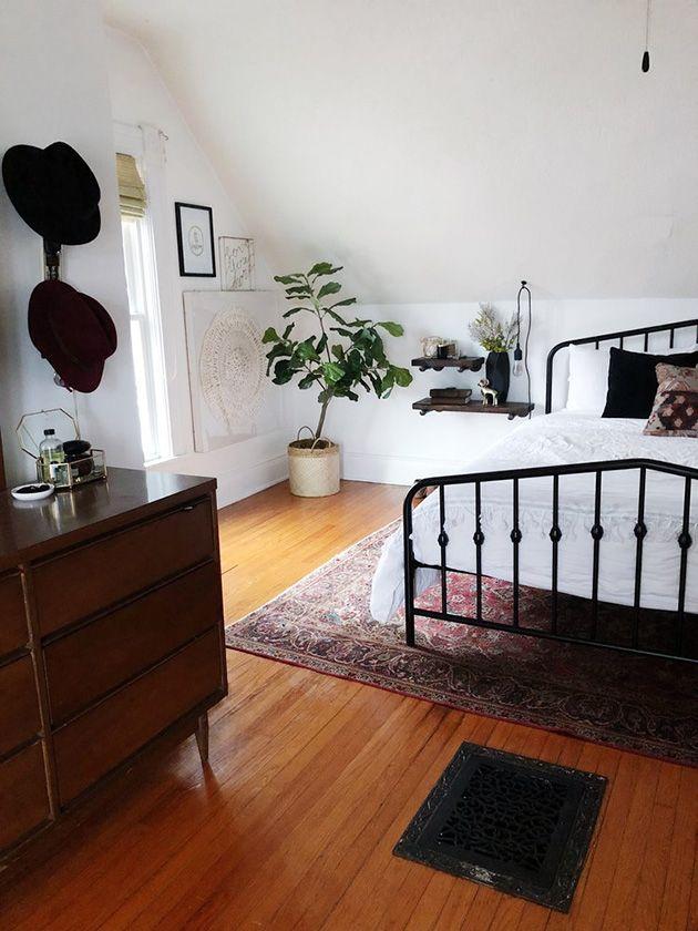 Hermosos dormitorios vintage con el metal como protagonista