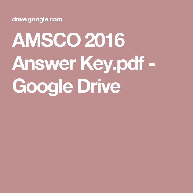 AMSCO 2016 Answer Key pdf - Google Drive | Apush | School