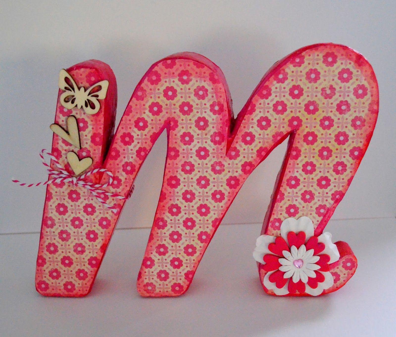 el rincon de fri fri letras decorativas de cartn m de - Letras Decorativas