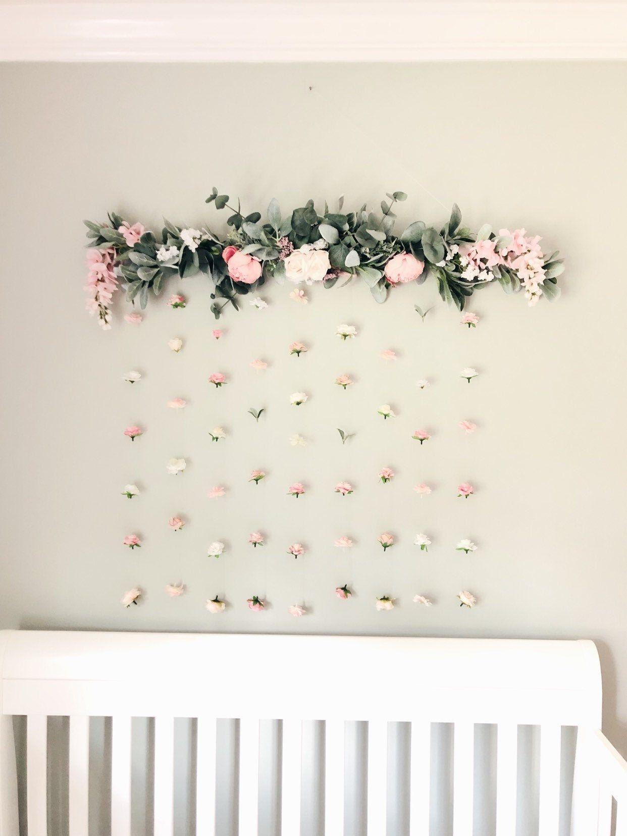 Wedding Flower Wall For Wedding Wedding Floral Backdrop Floral Hanging Wall Art Boho Wedding Decor Nursery Decor Girl Flower Wall Decor Hanging Flower Wall