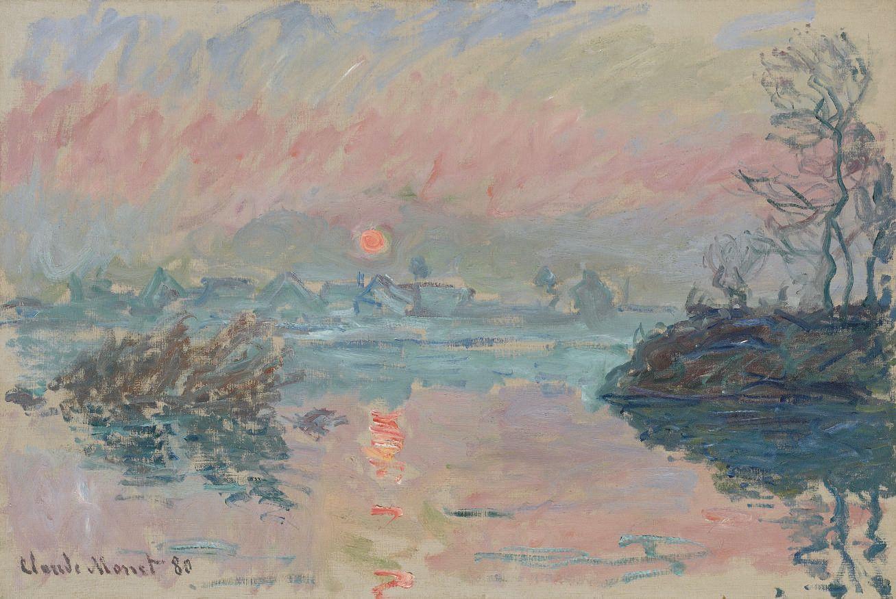 Claude Monet - Coucher de soleil à Lavacourt - 1880, huile sur toile, 54 x  81 cm. in 2020 | Claude monet art, Monet art, Claude monet paintings