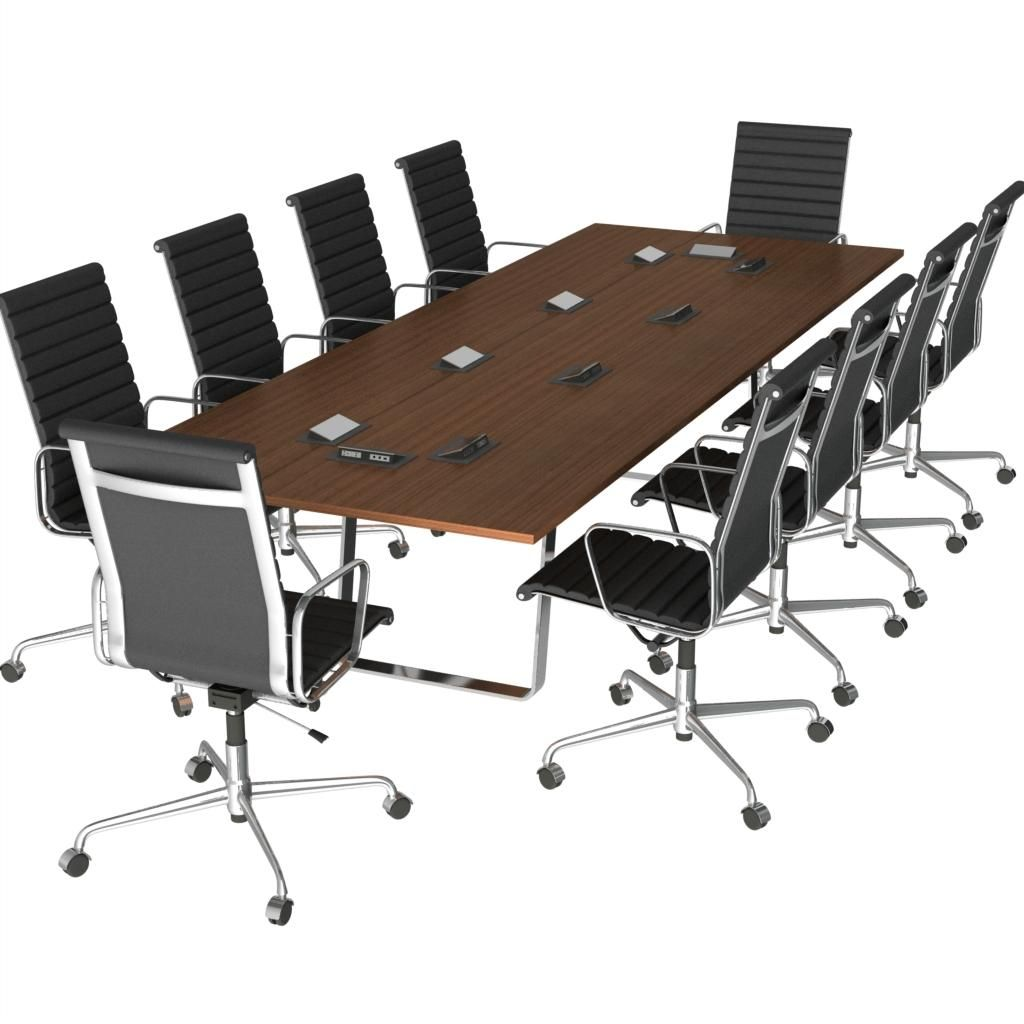Free 3d model conference table chairs for Table 3d model