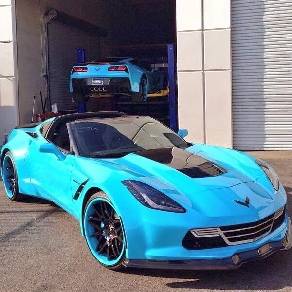 2014 stingray x2 just doesnt look like a corvette at all - Corvette Stingray Light Blue