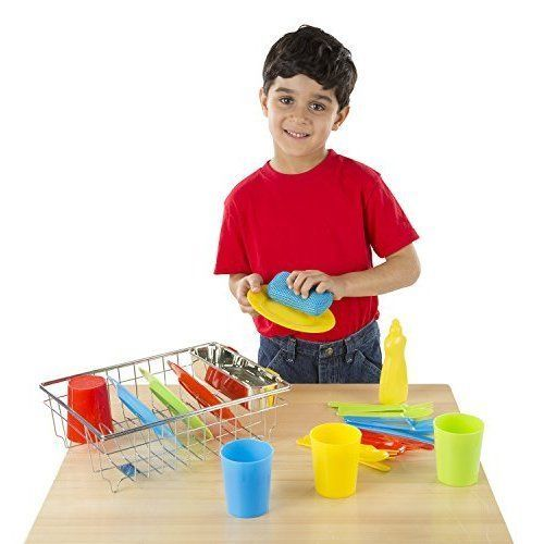 Children Kids Lets Play House Wash And Dry Dish Set 24pcs