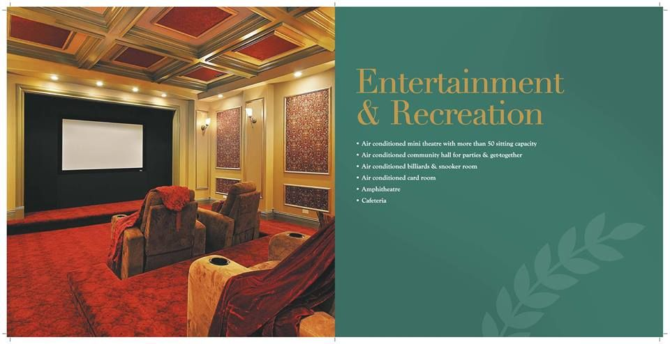 A world of facilities. Only at #SaiMannat   Air-conditioned mini theatre with more than 50 sitting capacity.  For more information, please visit http://paradisegroup.co.in/mannat_overview.html