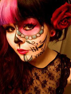 Shannon Shortcake (Makeup Addict): Day Of The Dead Sugar Skull MakeUp Tutorial And Look