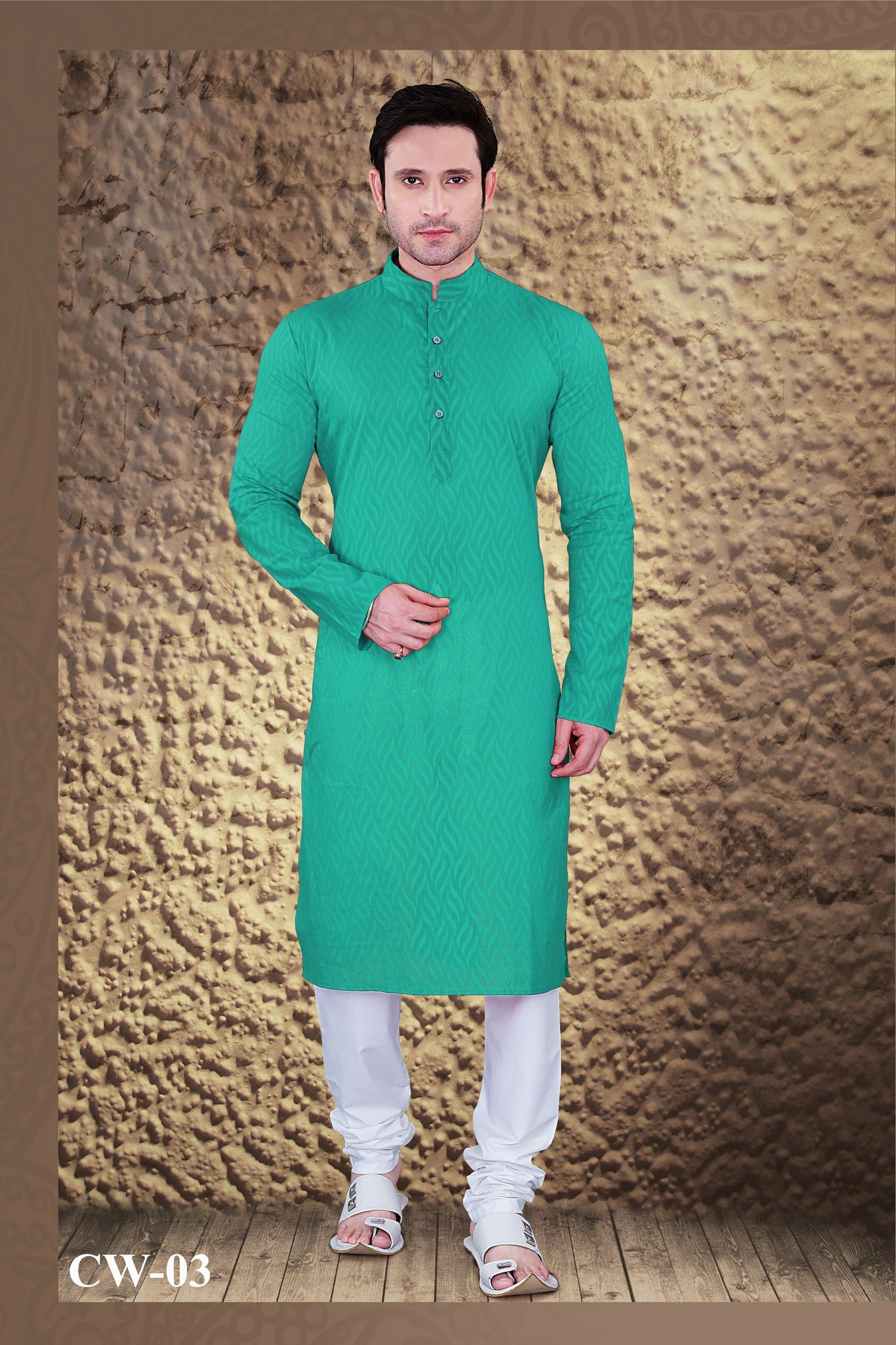 Designer Mens Kurta Party Wear Kurta With Churidar Mens