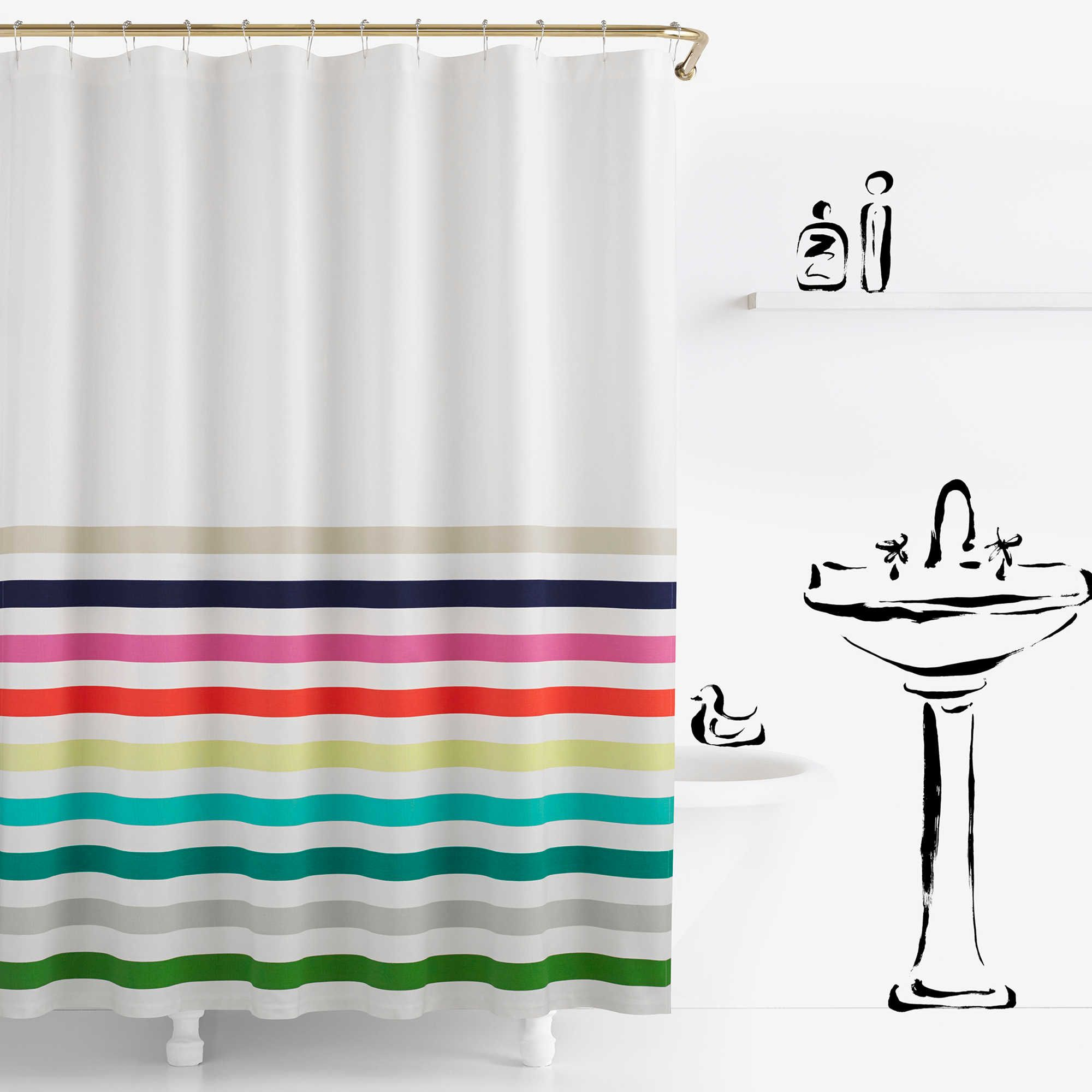 Kate Spade New York Candy Stripe Shower Curtain Kate Spade