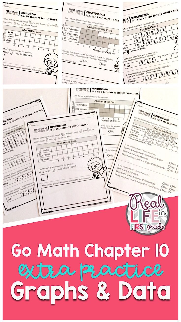 Give First Grade Students The Extra Practice They Need With These Fun Printable Worksheets These Activities Center On Bar Graphs Pictur Go Math Graphing Math [ 1306 x 735 Pixel ]