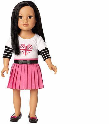 96d4bb758c9b Journey Girls 18 inch London Doll - Callie (Union Jack Shirt and ...