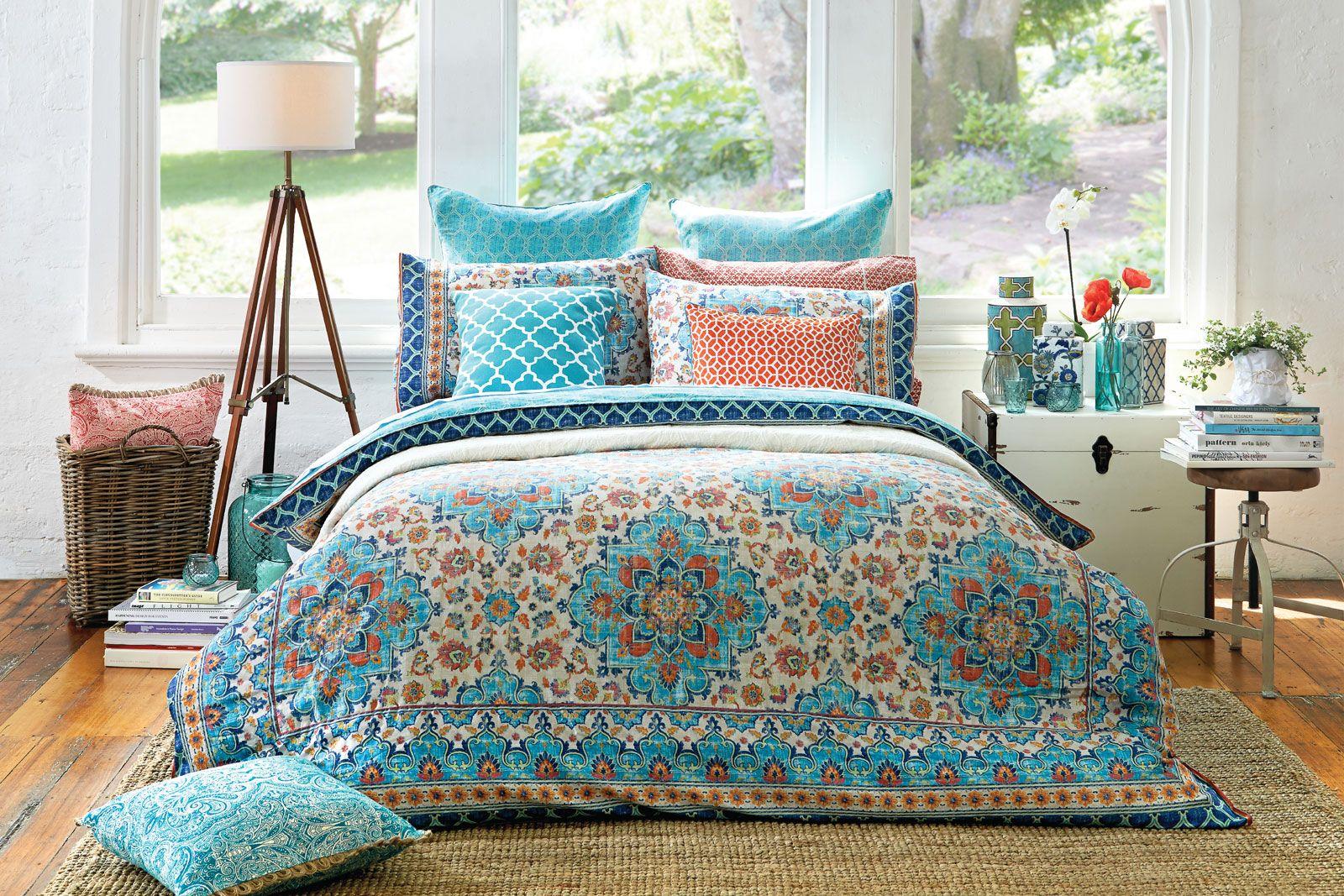 Bosphorus Quilt Cover Teal Bed Comforter Sets Quilt
