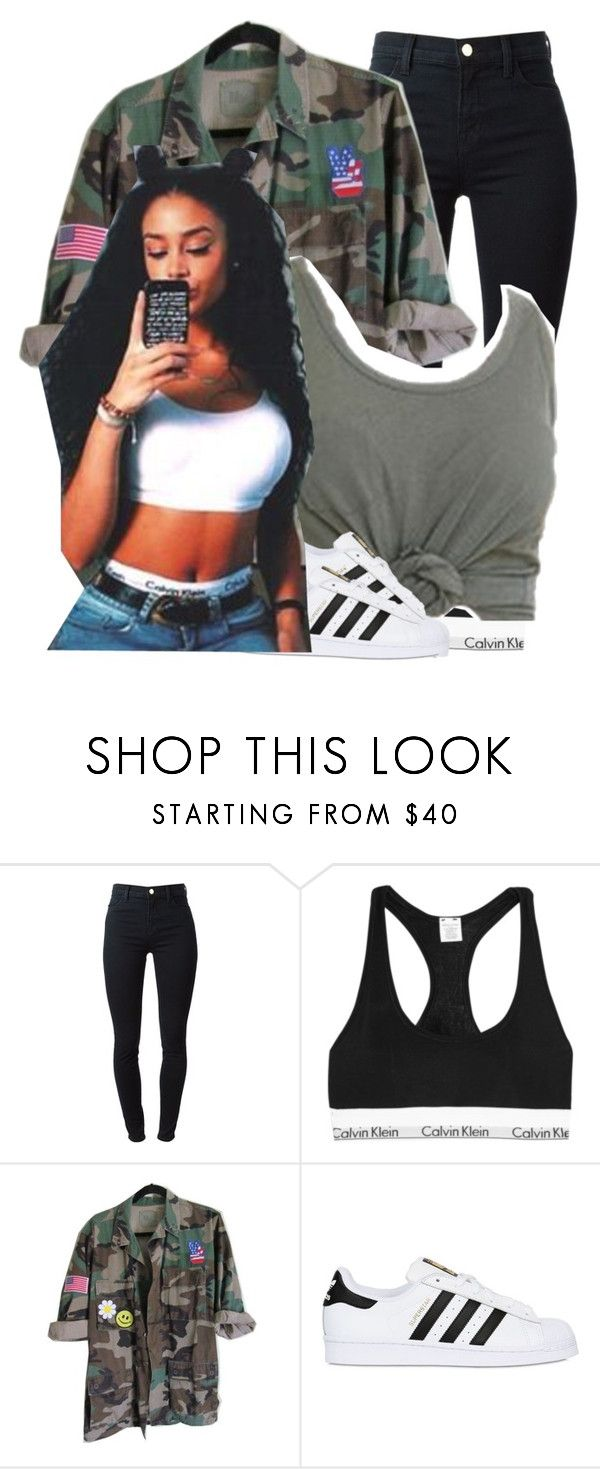 """3 times in a row"" by pvrtynextdoor ❤ liked on Polyvore featuring J Brand, Calvin Klein Underwear, adidas Originals, women's clothing, women, female, woman, misses and juniors"
