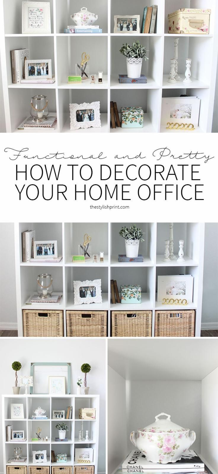 Home Office Organization: How to Add Lots of Storage to a Small ...