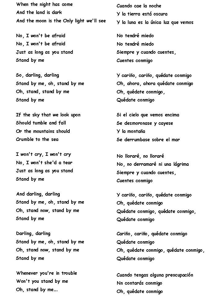 Stand By Me Ben E King 1961 Poems Poemas Prose