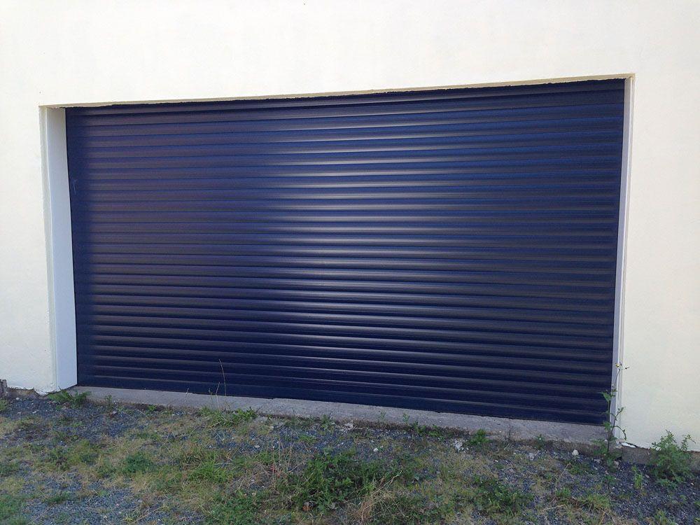 Blue Roller Garage Door Installed In Hull By Swan Gates Portn