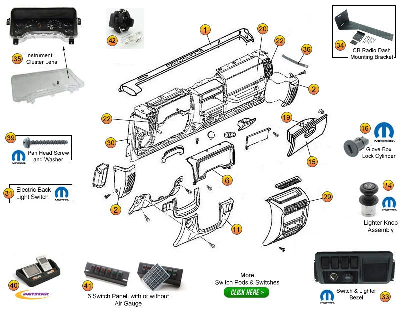 Instrument Panel Ponents For Wrangler Tj Unlimited Tjl Rhpinterest: Jeep Wrangler Tj Engine Diagram At Gmaili.net