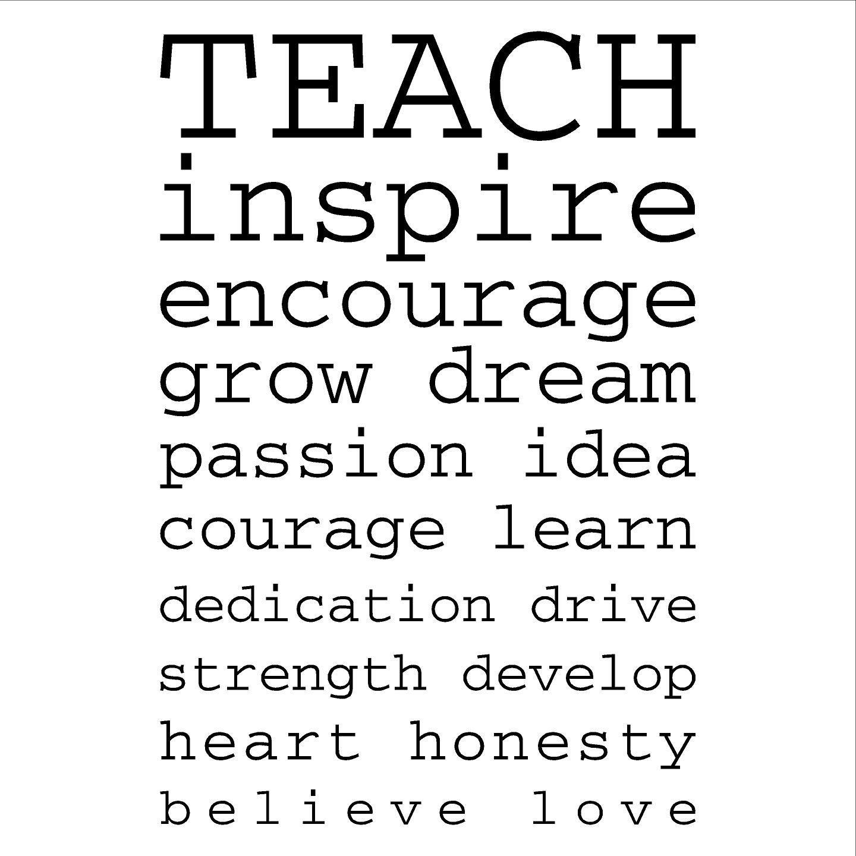Teach inspire encourage grow dream passion idea courage