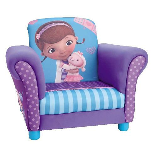 The Disney Junior Doc Mcstuffins Upholstered Chair 55 10lbs Doc Mcstuffins Room Big Kid Bedroom Upholstered Chairs