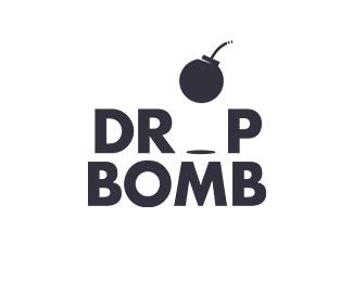 drop bomb logo black