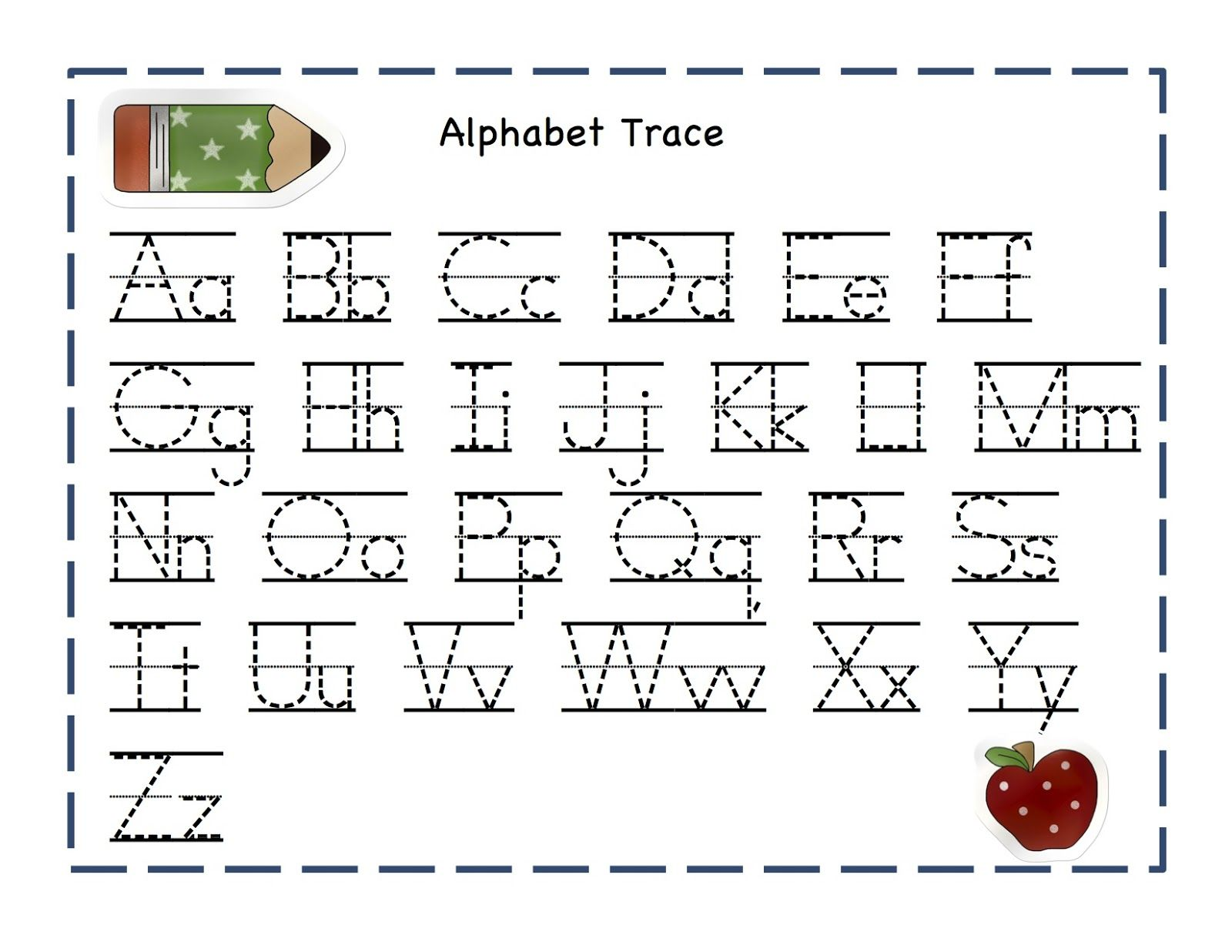Alphabet Worksheets for Preschoolers | Preschool Printables: Apple ...