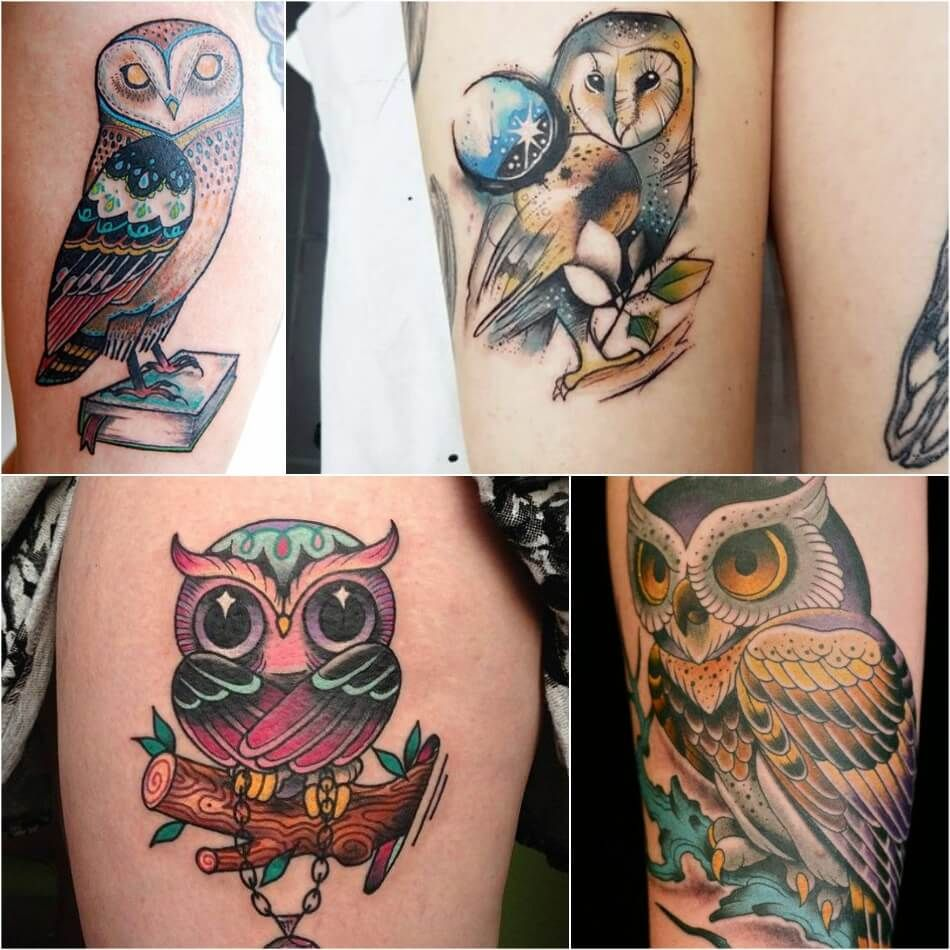 Owl Tattoo Owl Tattoos On Thigh Girly Owl Tattoos Explore More Tattoo Ideas On Positivefox Com Barnowl Cute Owl Tattoo Mens Owl Tattoo Owl Tattoo Meaning