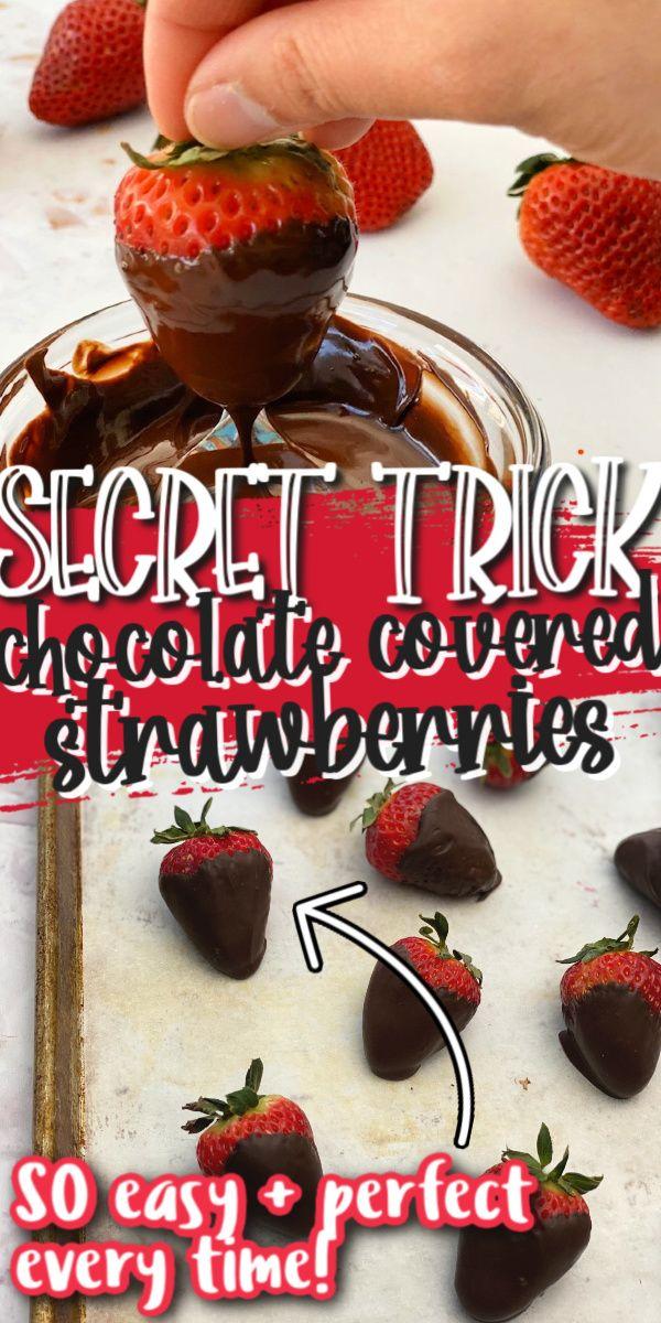 Chocolate Covered Strawberries Trick