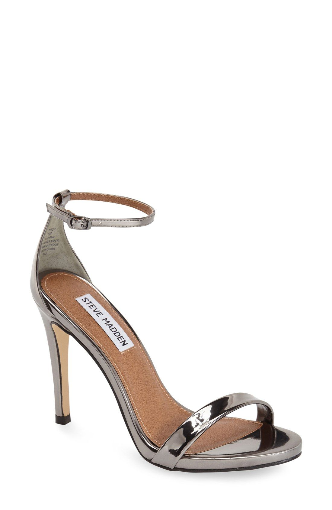 Steve Madden STECY - High heeled sandals - silver metallic 2oS6Fm2IH