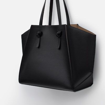Geometric Tote Bag Per View All Bags Woman Zara United States