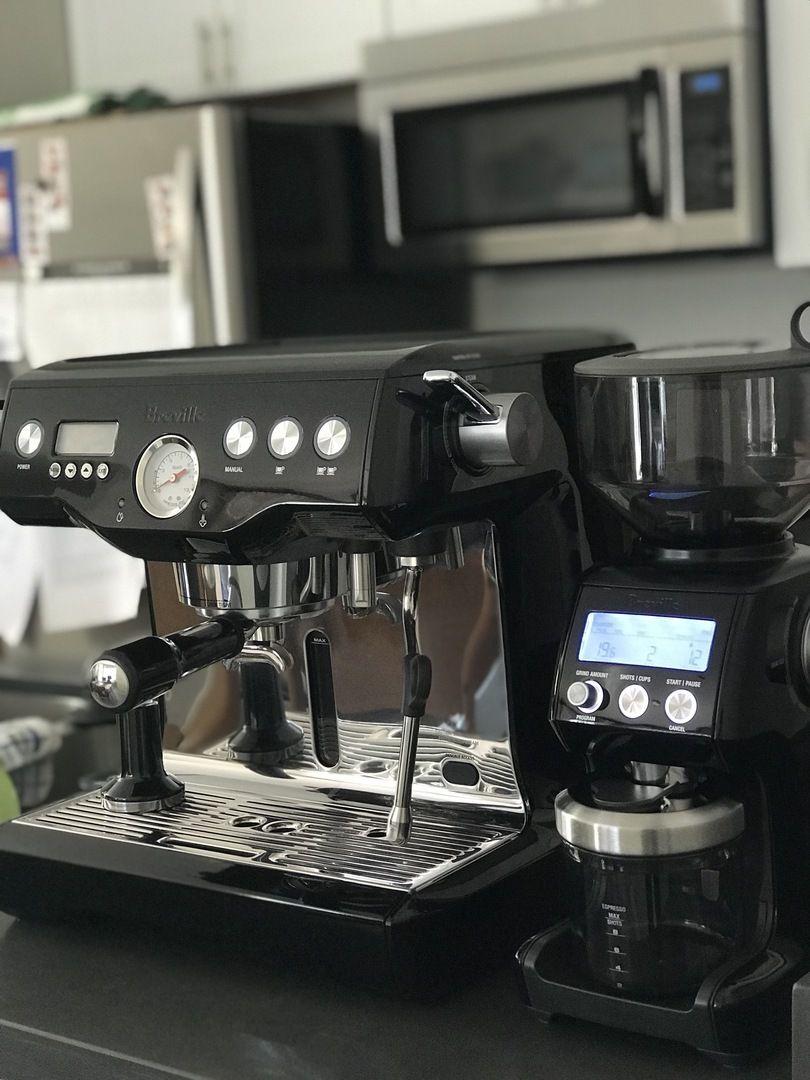 Breville BES920XL Dual Boiler Espresso Machine in Black in