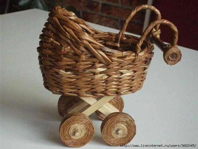 Плетение из газет плетение игрушек