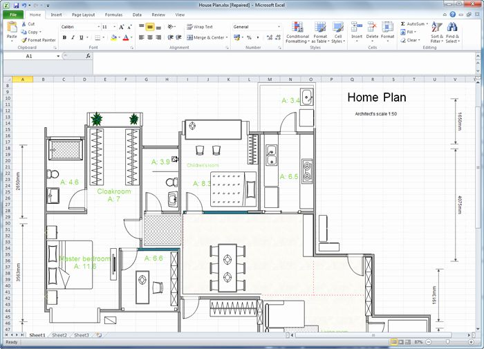 Floor Plan Templates Free Awesome Create Floor Plan For Excel Create Floor Plan Floor Plan Design Floor Plan Layout