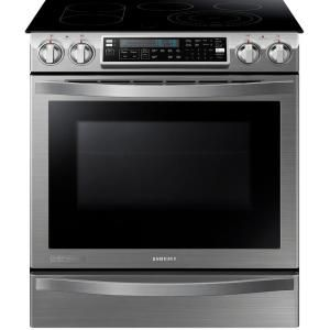 Samsung CHEF Collection 30 in. W 5.8 cu. ft. Slide-In Flex Duo Range with Self-Cleaning Convection Oven in Stainless Steel-NE58H9950WS at The Home Depot