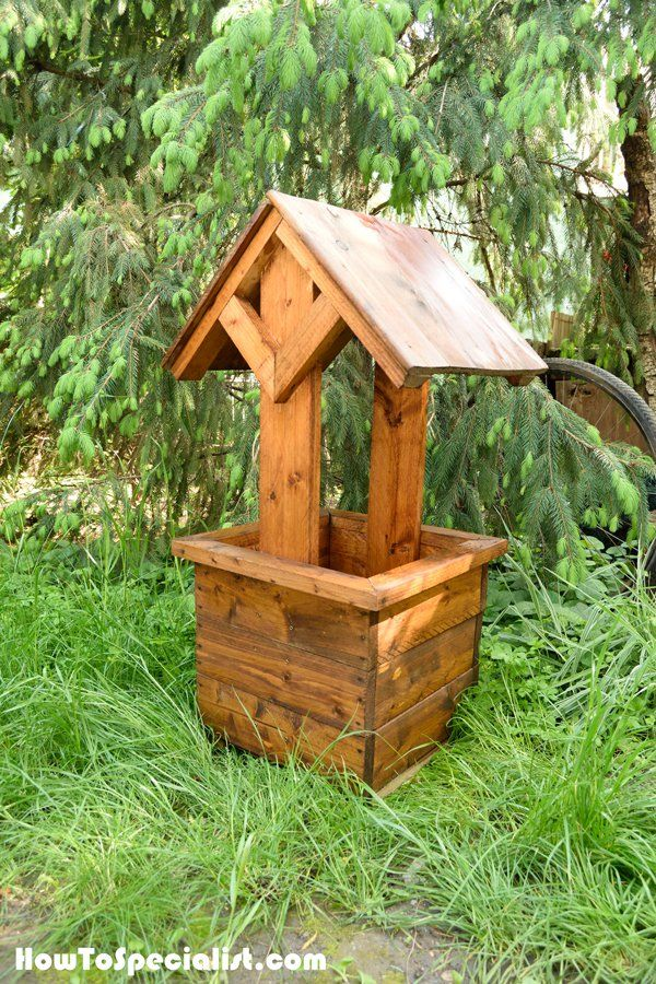 How To Build A Wishing Well Planter Stuff Planters Building