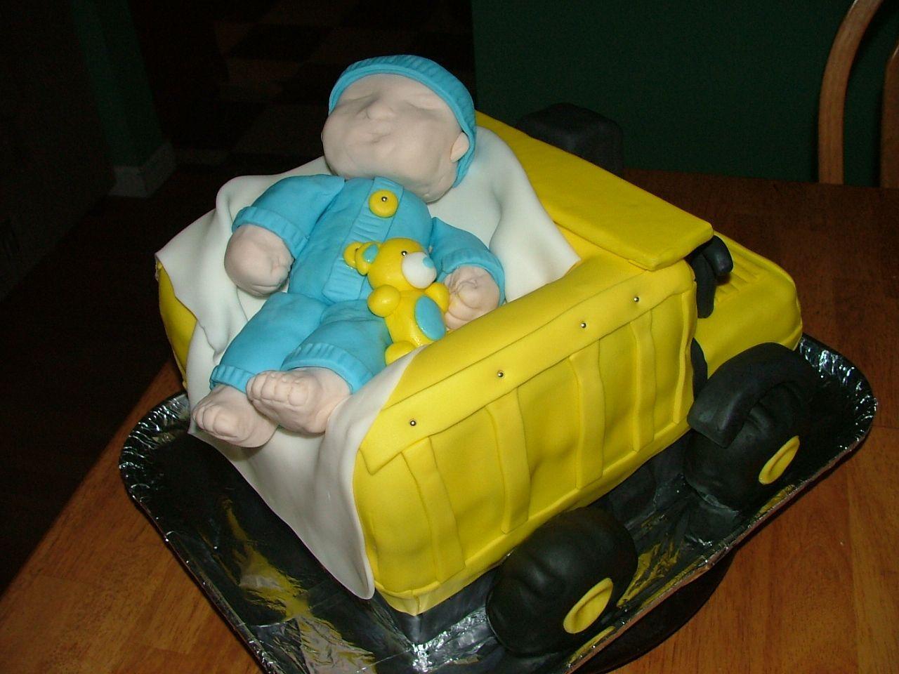 Tonka Truck Cake Tonka Dump Truck Baby Shower Cake Baby Shower
