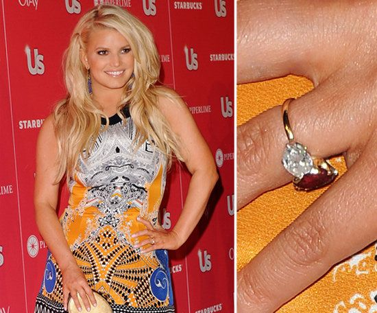 More Than 100 Of The Best Celebrity Engagement Rings Jessica Simpson Celebrity Engagement Rings Jessica Simpson Engagement Ring